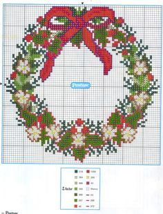 Cross Stitch Christmas Cards, Xmas Cross Stitch, Cross Stitch Needles, Beaded Cross Stitch, Cross Stitch Flowers, Cross Stitch Kits, Christmas Cross, Counted Cross Stitch Patterns, Cross Stitching