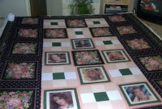 Another way to do photo quilts.  This was also a Buffalo gang wedding quilt, for Dianna.