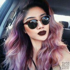 38. Dark #Roots with Warm Shades - 43 #Girls Rocking Pastel Hair ... → Hair #Rocking