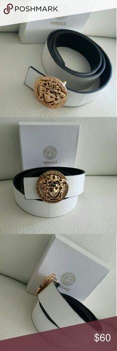 Nice belt size 32/42 Beautiful belt white /gold V Accessories Belts