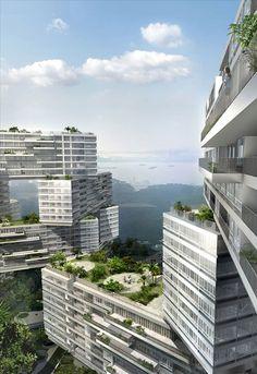 シンガポールで積み木みたいにアパートを積み重ねた集合住宅の建設計画が進行中