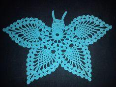 Denne er heklet i Mandarin Petit men en kan også hekle i tynnere bomulls garn :) Crochet butterfly pattern:) Oppskrift :) Legg opp ...