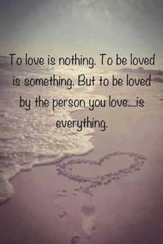 To love and be loved.