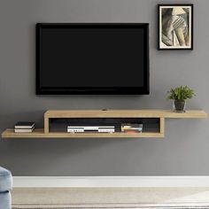 Vidalia Floating TV Stand for TVs up to - Ascend Asymmetrical Wall Mounted TV Component Shelf - Wall Mount Tv Shelf, Wall Mount Tv Stand, Wall Mounted Tv, Tv Wall Shelves, Mounted Tv Decor, Corner Shelves, Glass Shelves, Corner Storage, Mounted Shelves