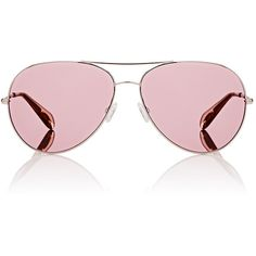 Oliver Peoples Women's Sayer Sunglasses (121.365 HUF) ❤ liked on Polyvore featuring accessories, eyewear, sunglasses, pink, oliver peoples sunglasses, logo sunglasses, clear aviator glasses, clear lens glasses and pink sunglasses