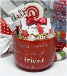 Who Needs Santa When I Have A Friend Like You? Christmas Coffee Mug Gift Set #ChristmasGiftForHer #ChristmasGiftsForAFriend #Christmas