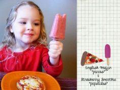 Strawberry Banana Breakfast Popsicles