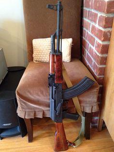 tristikov: whiskey-gunpowder: WASR 10 Lovin' that red furniture. Ak 47, Weapons Guns, Guns And Ammo, Tactical Rifles, Firearms, Gangster Movies, Lever Action Rifles, Custom Guns, Assault Rifle