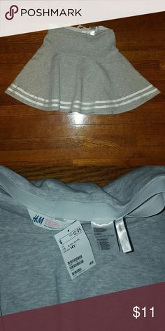 Brand NEW H&M Skirt Brand New Shirt Material is Sweat Material 78% Cotton 22% Polyester H&M Bottoms Skirts