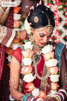 South indian bride hairstyle nd floowers