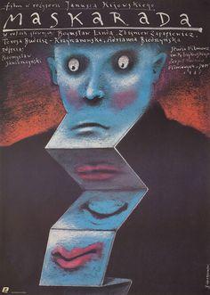 1987 Polish poster for MASQUERADE (Janusz Kijowski, Poland, 1987) Artist: Andrzej Pagowski Poster source: Posteritati