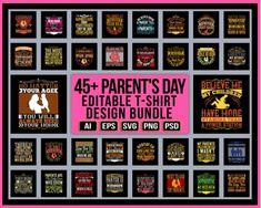 45+ Parent's Day Editable T-shirt Design Bundle - #parentsday #parents #parentslove #parentslife #parentsbelike #parentsofinstagram #parentsweekend #parentshouse #parentsupport #mothersday #parentstobe #parentsoftheyear #love #parentsquad #parentsnightout #parentsandkids #parentsunite #parentswhowander #parenting #parentsgonewild #parentsmagazine #gift #parentsasteachers #parentsofig #parentsareteacherstoo #parentsevening #parentscalltheshots #parentsfriends #perfectmum #parentslifestyle Parents Be Like, Happy Parents, Parents As Teachers, Parents Day Quotes, Unique T Shirt Design, Day Wishes, Parenting Quotes, Design Bundles, Shirt Designs