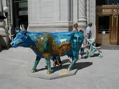 Classic(al?) Cow from Chicago's Cows on Parade back in the day.  Has myth of Europa painted on it.