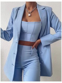 Glamouröse Outfits, Teen Fashion Outfits, Suit Fashion, Cute Casual Outfits, Look Fashion, Stylish Outfits, Classy Outfits For Teens, Co Ords Outfits, Travel Outfits