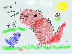 Fingerprint Dino..... made on iPad....