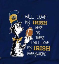 Go Irish, Irish Pride, Notre Dame Wallpaper, Notre Dame Apparel, Notre Dame Irish, Sport Football, Football Signs, Lou Holtz, Irish Catholic