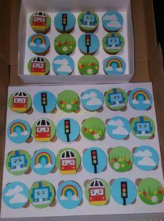 Cake pops / Cupcakes / Petit Fours Birthday Menu, Birthday Parties, Birthday Cake, Cupcakes Design, Robocar Poli, Animal Activities, Party Cakes, Cake Pops, Fondant