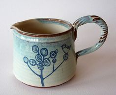 Ceramics by Julia Smith at Studiopottery.co.uk - 2011. Blue Jug