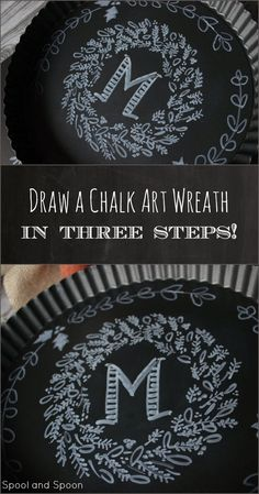 How to Draw a Chalk Art Wreath -- zero artistic talent required!