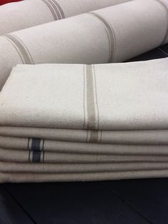 Reproduction Vintage French Grain Sack Fabric by ThePeddlersPlace, $28.99