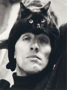 "German photographer Herbert Tobias and his cat, Tobias. <a href=""http://www.kittyloversclub.com"" rel=""nofollow"" target=""_blank"">www.kittyloverscl...</a>"