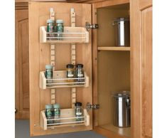 Use the inside of your cupboard doors to store your spices