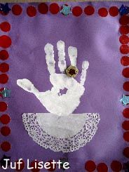 The handprint of Saint Nicolas or Sinterklaas as he is known in Holland.