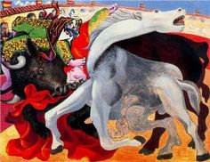 "Pablo Picasso, ""Bullfight, the death of the torero"""