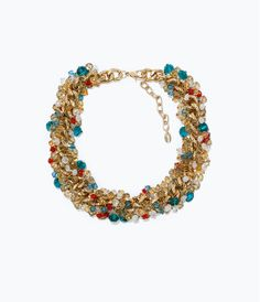 Image 1 of CHAIN NECKLACE WITH JEWELS from Zara