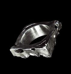 Bracelet by Horsecka Jewelry. Oxidized sterling silver. #jewelry #jewellery #horsecka #annahorsecka