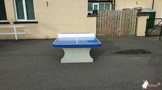 Pingpongtafel Afgerond Blauw bij Inchgarth Community Centre in Aberdeen, Scotland