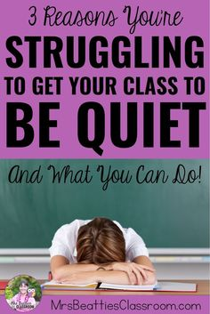 """""""My class won't stop talking. How can I get them to be quiet?"""" Even experienced teachers make three mistakes that result in an unruly, disrespectful class. Find out what these mistakes are and what you can do to get your class to be quiet in this post!"""