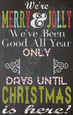Shabby Chic Chalkboard Countdown To by PrettiestLilThings on Etsy