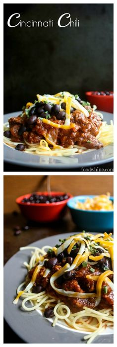 Here's a nice change from your usual chili. Cincinnati Chili has a unique blend of spices and it's served over spaghetti. Kids love it! #RicardoRecipes #RicardoCuisine