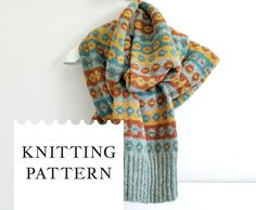 This listing is for purchase of the PATTERN (knitting instructions) in English. Fair Isle Knitting, Knitting Yarn, Hand Knitting, Hand Knitted Sweaters, Knitted Hats, Scarf Knit, Fingering Yarn, Dk Weight Yarn, Bind Off
