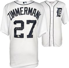 6c174714d Jordan Zimmermann Tigers Signed White Replica Jersey - Fanatics  Baseball  Mlb Detroit Tigers