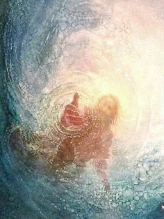 This is beautiful. Jesus Christ's hand is outstretched no matter how deep we get or how drowned we feel. #keepreachingforHim