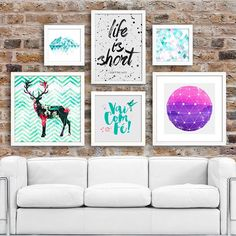 Kit de Quadros Decorativos Enjoy - Encadreé Posters