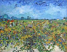 """The Green Vinyard, Vincent van Gogh 1888 """