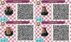 Cute #tartan dress for winter #animalcrossing #acnl