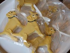 Yellow Lab cookies