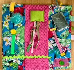 Excited to share this item from my #etsy shop: HAWAIIAN VACATION Fidget Blanket for Alzheimer's, Dementia | by Restless Remedy Dementia Care, Alzheimer's And Dementia, Saving Coins, Fidget Blankets, Fidget Quilt, Pediatric Ot, Custom Quilts, Alzheimers, All The Colors