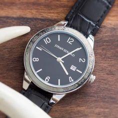 Deer Antler Watch, Metal Wristwatch With Faux Alligator Strap-JE1008-2