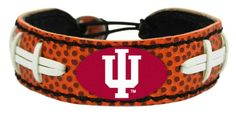 Indiana Hoosiers Classic Football Bracelet