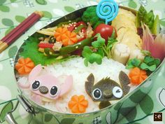 Lilo and Stitch bento. somebody should make this for me... :D