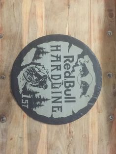 Trophies for the Redbull Hardline 2015- laser engraved on Welsh slate.