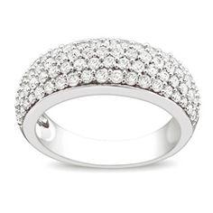 Miadora 10k White Gold 1ct Tdw Diamond Pave Ring (g-h, I2-i3)