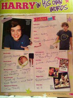 Harry:) I fall asleep easily 2 haha!