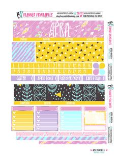 #free #printable #planner #stickers #april #monthly