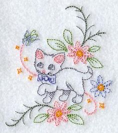 Vintage Embroidery Designs Machine Embroidery Designs at Embroidery Library! Baby Embroidery, Free Machine Embroidery Designs, Hand Embroidery Patterns, Vintage Embroidery, Cross Stitch Embroidery, Embroidery Thread, Lace Patterns, Broderie Simple, Simple Embroidery Designs